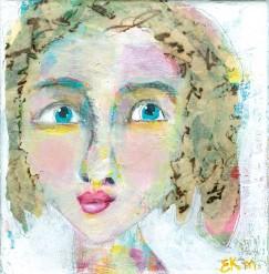 """""""Amy"""" a party girl portrait by Ellen Kelley-McHale"""