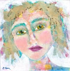 """""""Danielle"""" a party girl portrait by Ellen Kelley-McHale"""