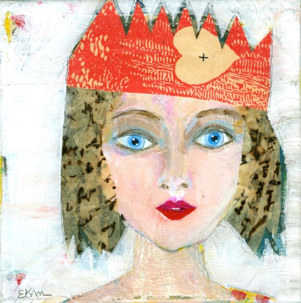 """Linda"" a party girl portrait by Ellen Kelley-McHale"