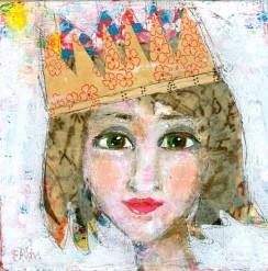 """""""Merry"""" a party girl portrait by Ellen Kelley-McHale"""