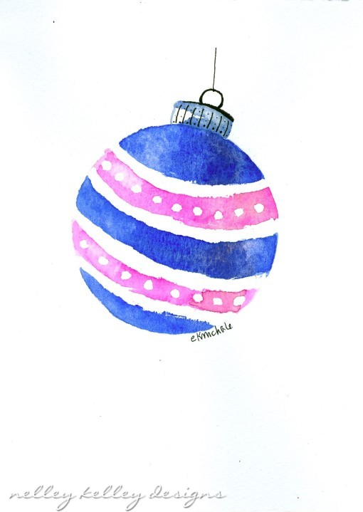 blue and pink ornament by Ellen Kelley McHale 2013