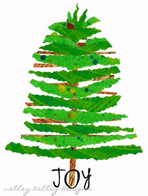 Joy Tree collage by Ellen Kelley McHale 2011
