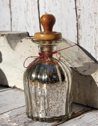 Mercury Glass Bottle / Vase
