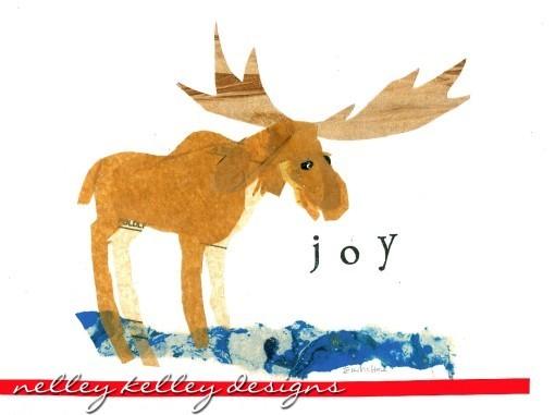 Moose collage by Ellen Kelley McHale 2013