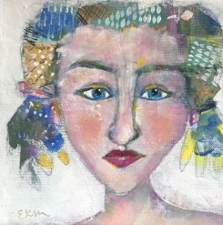 """Amanda"" a party girl portrait by Ellen Kelley-McHale"