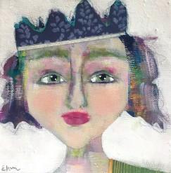 """""""Maureen"""" a party girl portrait by Ellen Kelley-McHale"""