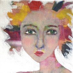 """""""Miranda"""" a party girl portrait by Ellen Kelley-McHale"""