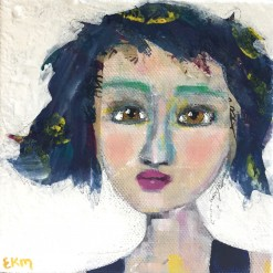 """Niki"" a party girl portrait by Ellen Kelley-McHale"