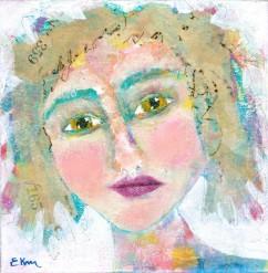Pensive: a party girl portrait