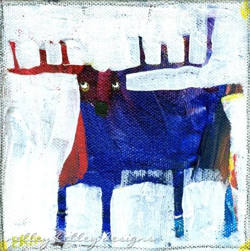 Purple Rein(deer) byEllen Kelley McHale 2014