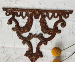 Architectural Salvage Wall Ornament in scrolling flower motif